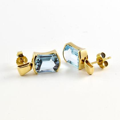 9ct Aquamarine Drops