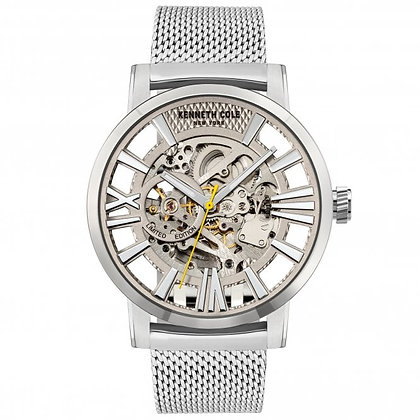 Kenneth Cole Steel Skeleton Automatic (Silver Edition)