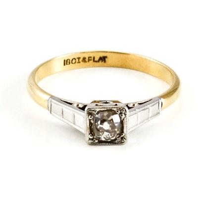 18ct Platinum Diamond (0.25)