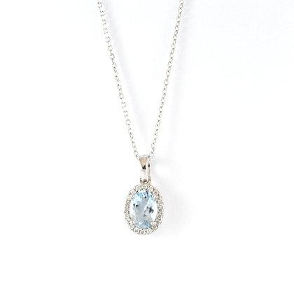 18ct Diamond Aquamarine