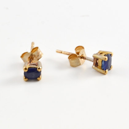 9ct Blue Sapphire Studs