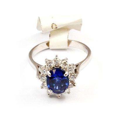 18ct Diamond Sapphire (1.25)