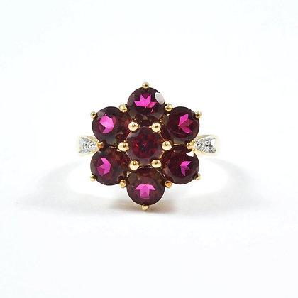 9ct Yellow Diamonds Ruby (0.50)