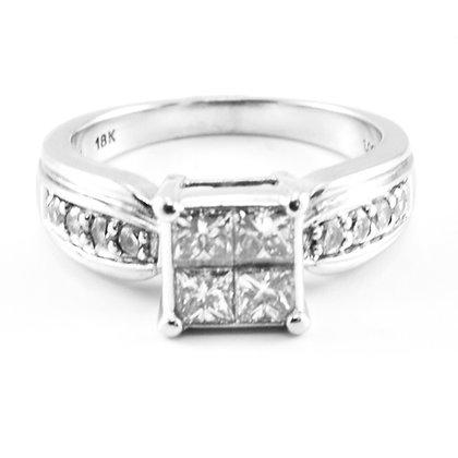 18ct Diamond Princess cut 4 (0.13)