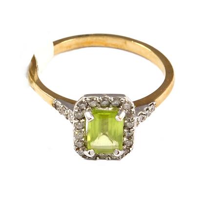 9ct Diamond Peridot