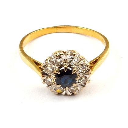 18ct Diamond Sapphire