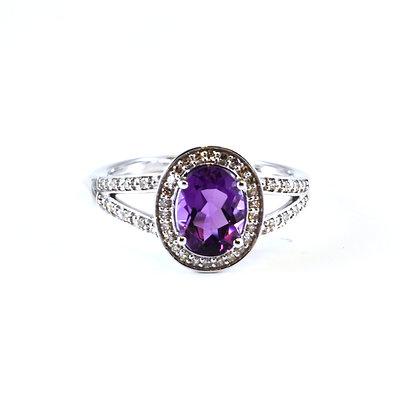 14ct Diamond Amethyst