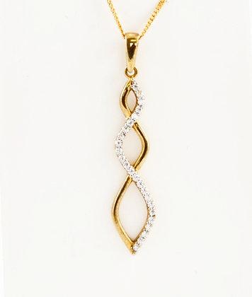 9ct Diamond Pendant