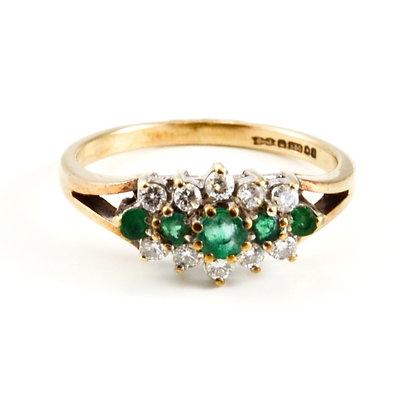9ct Diamond Emerald