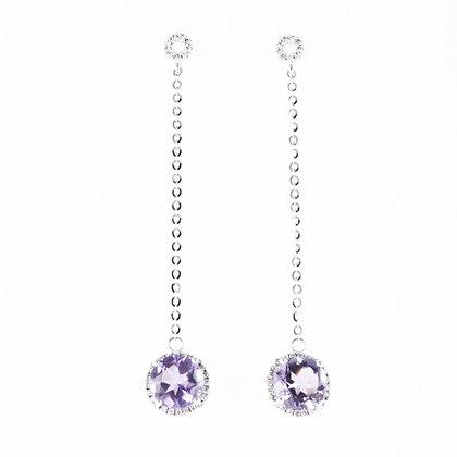 14ct Amethyst and Diamond