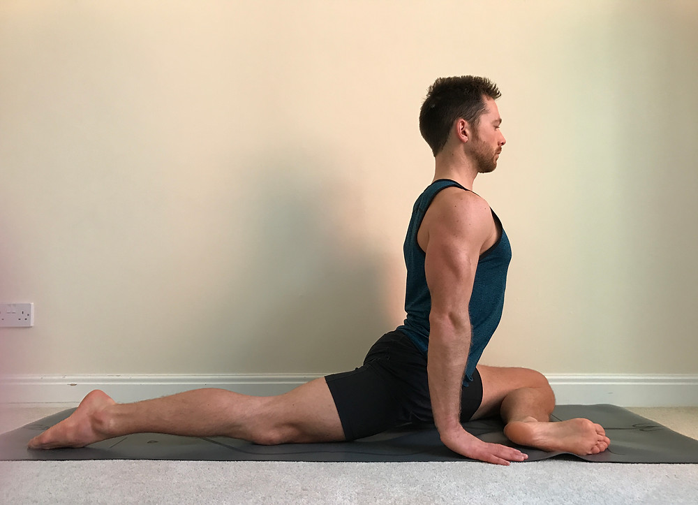 Pigeon posture (Away from hip)