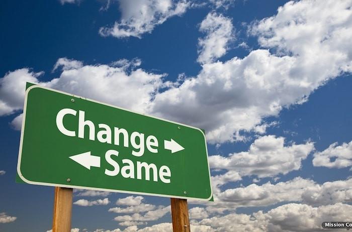 Make a change ...