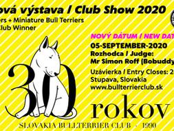 Klubová výstava SBC / SBC Club Show, 05-09-2020