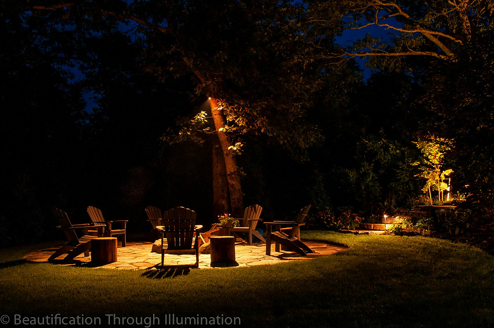 A Beautification Through Illumination lighting job in Falmouth, MA.