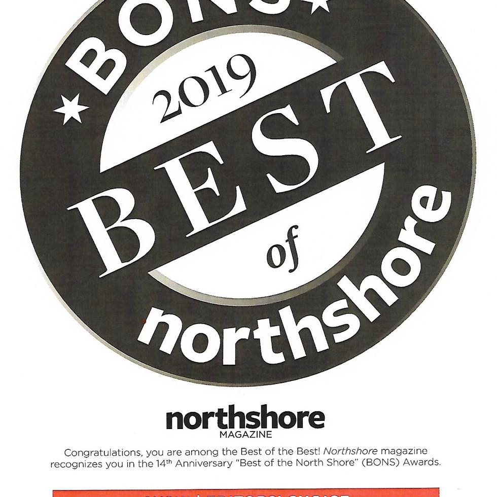 Best of North Shore 2019 award