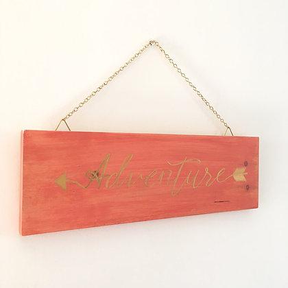 Adventure Wood Sign Decor