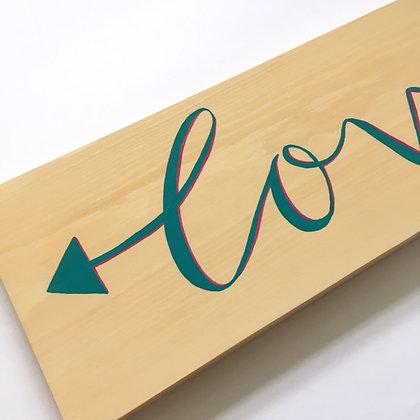 Love Arrow Wood Sign Decor