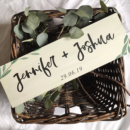 Personalised Wedding Wood Sign Decor