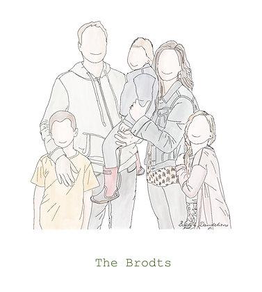 Digital File - Personalised Family Illustration