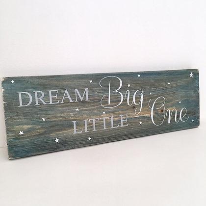 Dream Big Wood Sign Decor