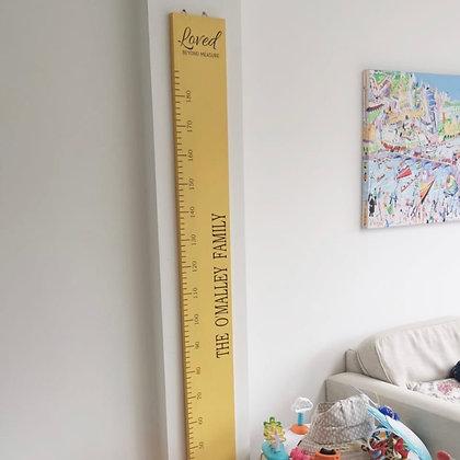 Giant Wood Yellow Height Ruler