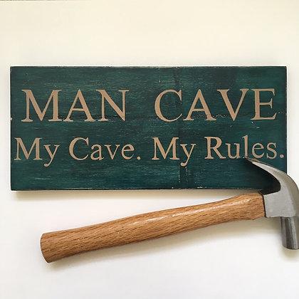 Man Cave Wood Sign Decor