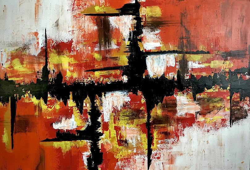 """Vitals 24"""" x 36"""" acrylic on stretched canvas"""