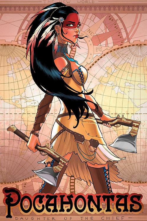 Steampunk Pocahontas Art Print