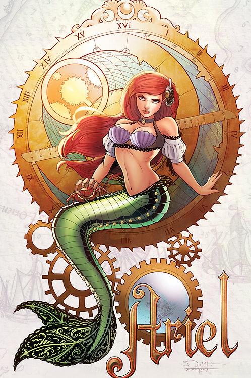 Steampunk Ariel Art Print