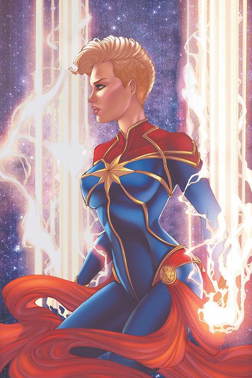 Captain Marvel Profile Art Print