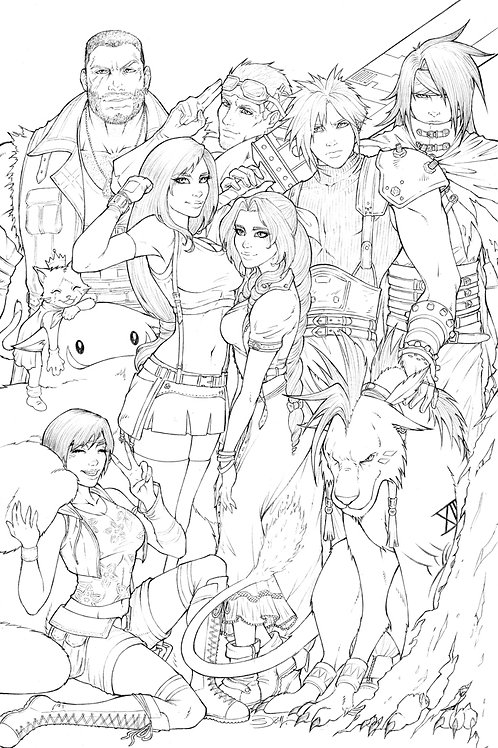 Final Fantasy Remake Original Art