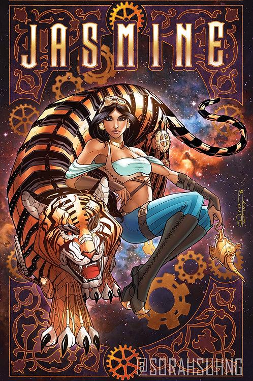 Steampunk Jasmine Art Print