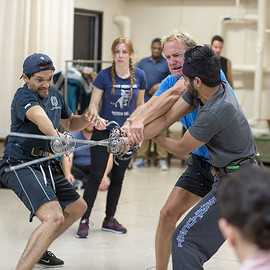 Swordplay (rehearsal) for Shakespeare In Love