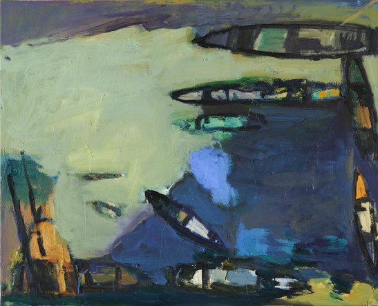 """Embouteillage maritime""81x100"