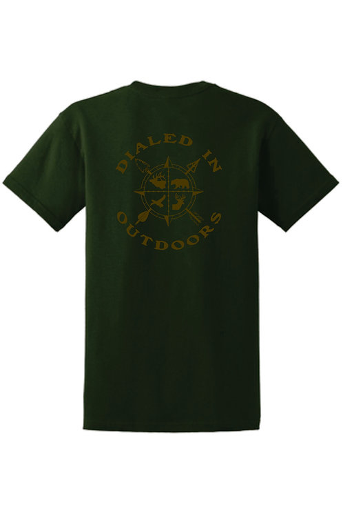 Dialed in Outdoors Green w/ Brown imprint