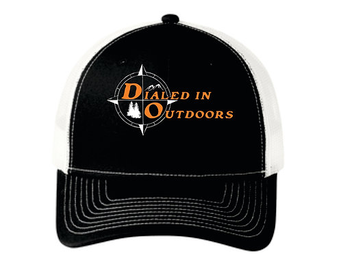 Dialed in Outdoors Black and white hat