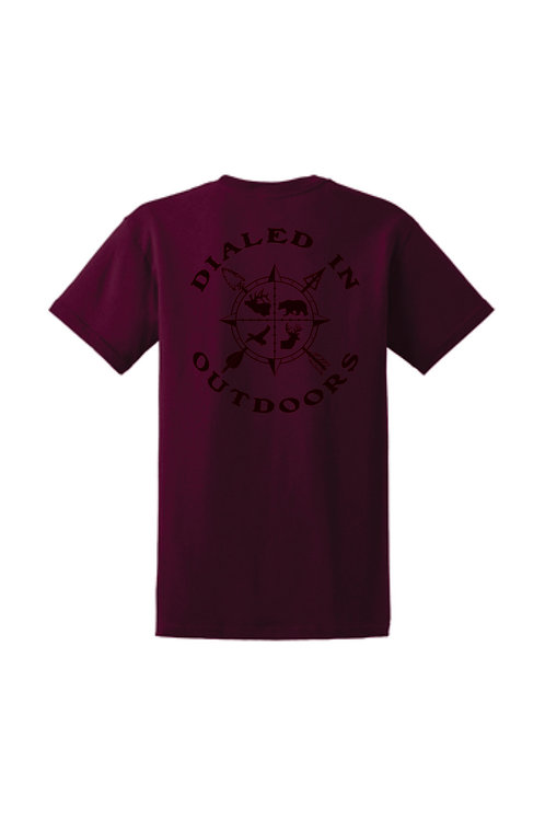 Dialed in Outdoors Maroon w/ black imprint
