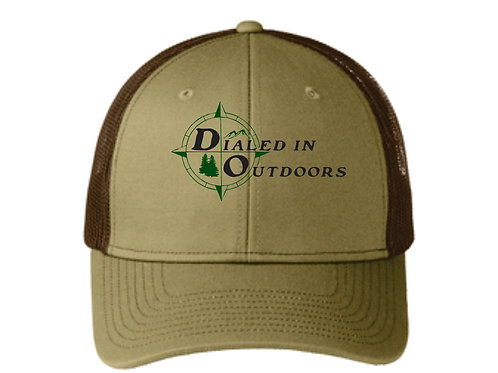Dialed in Outdoors Khaki/Coffee hat