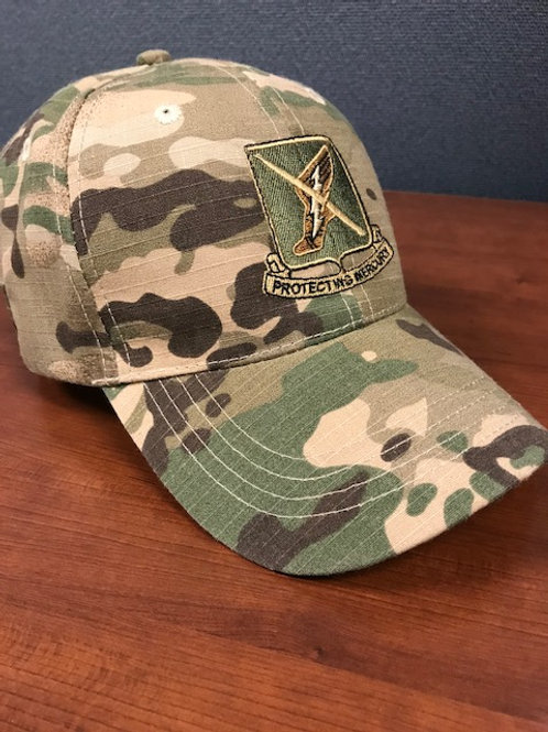 156th Full Camo hat With flag