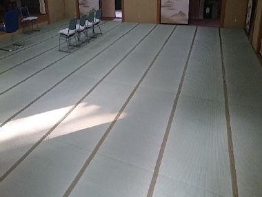 大広間の畳工事1