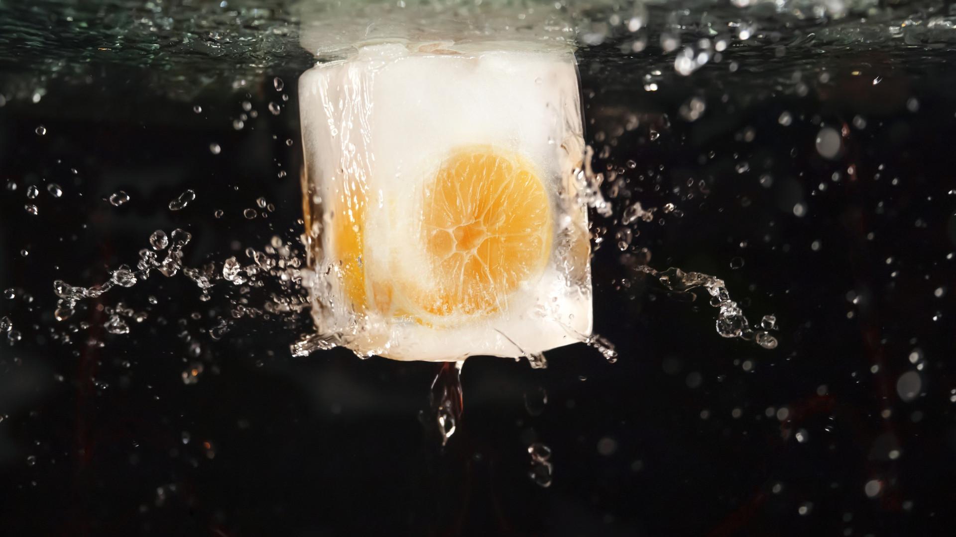 凍ったレモン