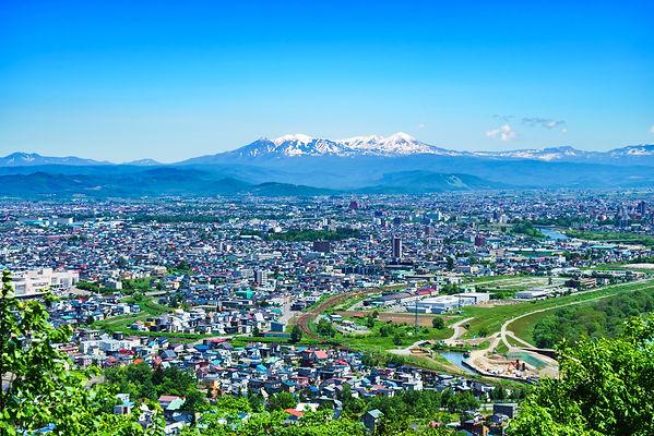 旭川市と大雪山