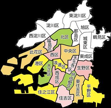 大阪府区割り地図
