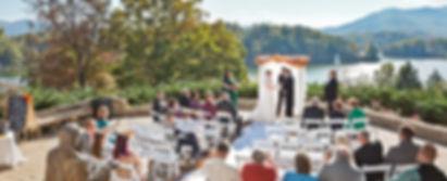 Wedding ceremony at Inspiration Point Lake Junaluska