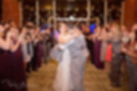Bride and groom bubbles exit, asheville wedding photography