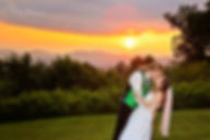 Bride and groom epic sunset kiss, hendersonville and asheville wedding photographers