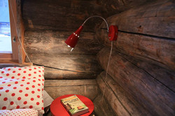 Lingonberry bedroom log cabin Laplan