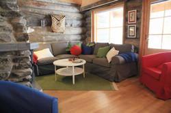 Sofa and lounge  log cabin Lapland