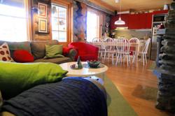 Kitchen area log cabin Lapland