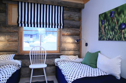 Blueberry bedroom log cabin Laplan